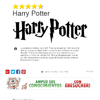 Harry Potter - Libros y revistas