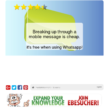 Breaking up through a mobile message is cheap. - Ocio y tiempo libre